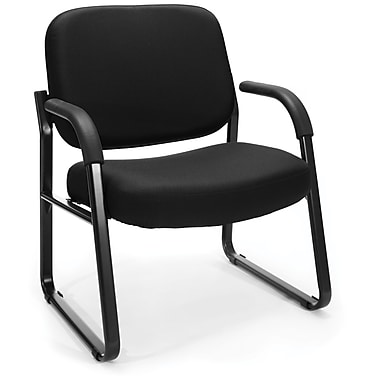 OFM Steel Guest/Reception Chair with Arms, Black (845123028582)