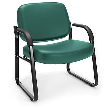 OFM Steel Guest/Reception Chair with Arms, Teal (845123030783)