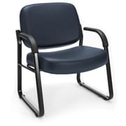 OFM Steel Guest/Reception Chair with Arms, Navy (407-VAM-605)