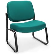 OFM Big and Tall Fabric Guest/Reception Chair, Teal (409-802)