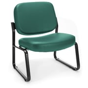 OFM Big and Tall Vinyl Guest/Reception Chair, Teal (409-VAM-602)