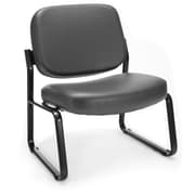 OFM Big and Tall Vinyl Guest/Reception Chair, Charcoal (409-VAM-604)