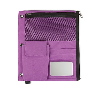 Staples® Full Binder Pencil Pouch, Purple