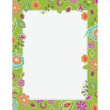 Paisley Flowers Letterhead, 80 count