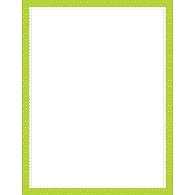 Lime Scalloped Dots Letterhead, 80 count