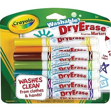 Crayola® Washable Dry-Erase Markers, 12/Pack