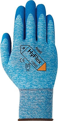 Ansell® HyFlex® Multi-Purpose Gloves, Nylon, Medium, Dark Gray/Black, 12 Pairs