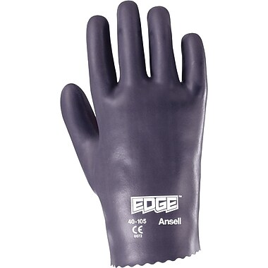 Ansell Edge® 40-105 Nitrile Knit-Lined Gloves, Slip-on, Size Group 9