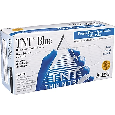 Ansell TNT® 92-675 Nitrile Powder Free Disposable Gloves