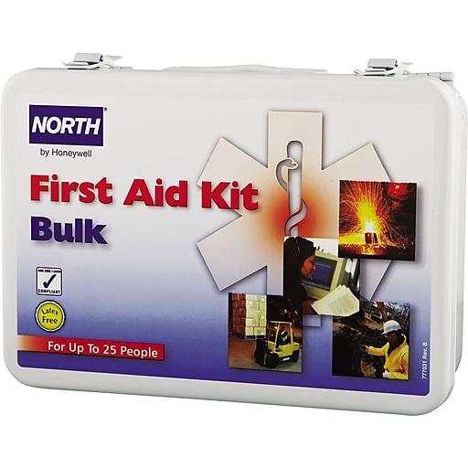 North® Bulk Metal First Aid Kit, 25 Person