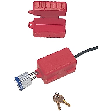 North® LP550 E-Safe Electrical Plug Lockout, Red