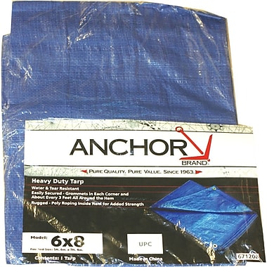 Anchor Brand® Multiple Use Tarpaulin, 25'(L) x 20'(W)