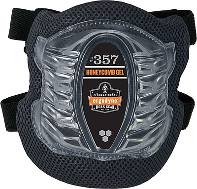 Ergodyne® ProFlex® Lightweight Gel Knee Pad With Short Cap, Black