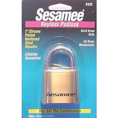 Sesamee® K0436 Marine Keyless Padlock, Brass