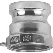 "Dixon™ Valve 150 Aluminum Type A Boss-Lock Adapter, 1 1/2"" FNPT x 1 1/2"" Male Quick"