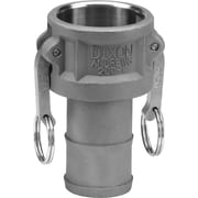 "Dixon™ Valve 200 Aluminum Type C Coupler, 2"" Female Quick x 2"" Male Barb/Hose"