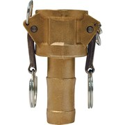 """Dixon™ Valve G300 Forged Brass Type C Global Coupler, 3"""" FNPT x 3"""" Male Barb/Hose"""