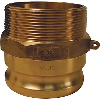 Dixon™ Valve G300 Forged Brass Type F Globa Adapter, 3