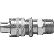 "Dixon™ Valve QM88 Plated Steel Dix-Lock Quick-Acting Coupling, 3/4"" MNPT x 3/4"" Male Quick"