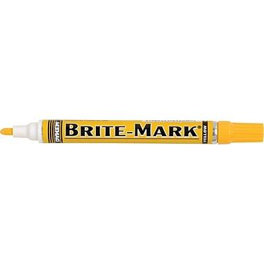 BRITE-MARK® Paint Marker, Yellow, 12/pk