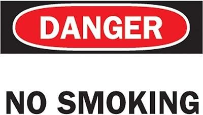 Brady® No Smoking Sign, 7