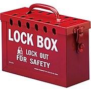 Brady® 65699 Portable Metal Lock Box, Red