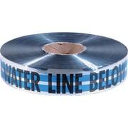"Empire® 31 2""(W) x 1000'(L) Premium Water Detectable Tape, Blue/Silver/Black"