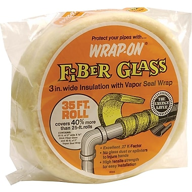 Wrap-On® 16503 Pipe Insulation Wrap, 35'(L) x 3