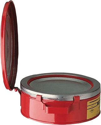 Justrite® 10175 Red Bench Can, 1 qt