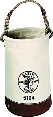 "Klein Tools® Leather-Bottom Canvas Bucket; 1 Compartment; 17""(H)"