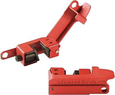 Master Lock® Grip Tight™ 491B Circuit Breaker Lockout, Red