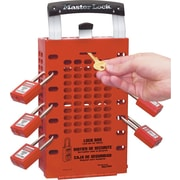 Master Lock® Safety Series™ Latch Tight™ 503 Portable Group Lock Box, Red