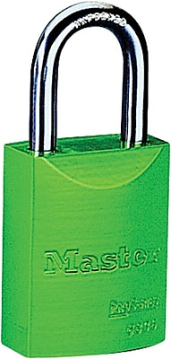 Master Lock® 6835 Safety Series™ Pro Series® High Visibility Aluminum Padlock, 5 Pin, Green