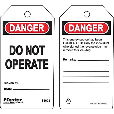 Master Lock® Guardian Extreme™ Do Not Operate Safety Tag, 5 3/4