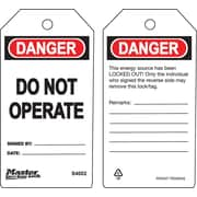 "Master Lock® Guardian Extreme™ Do Not Operate Safety Tag, 5 3/4""(L) x 3""(W)"