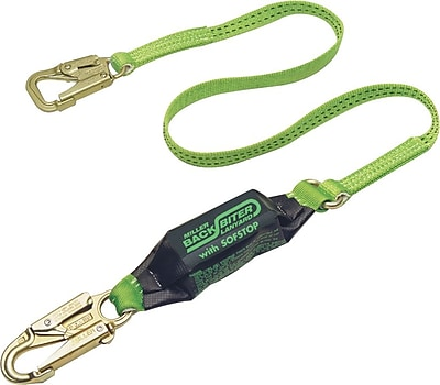 Honeywell Miller® BackBiter™ Polyester Green Lanyards, 6'