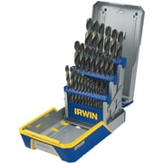 Irwin® Reduced Shank HSS Black and Gold Metal Index Drill Bit Set