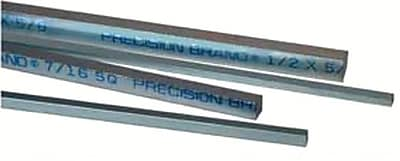 Precision Brand® Square Zinc Plated Low Carbon Steel Keystock, 12
