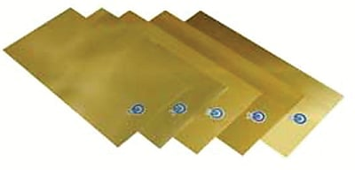 Precision Brand® Plain Brass Shim Stock Flat Sheet Assortment, 0.001 - 0.015