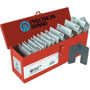 "Precision Brand® Plain Stainless Steel Slotted Shim Assortment Kit, 4"" x 4"""