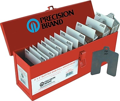 Precision Brand® Plain Stainless Steel Slotted Shim Assortment Kit, 2