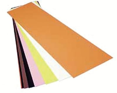 Precision Brand® Plain Plastic Color Coded Shim Flat Sheet, 5