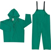 River City 3882 Dominator 2-Piece Rainsuit, Green, Large