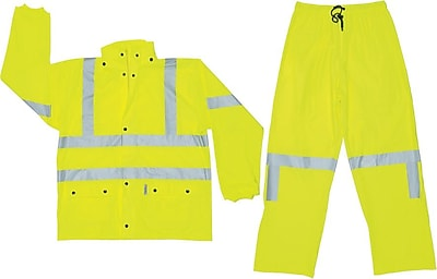 River City Luminator 5182 Class III Rainsuit, Fluroscent Yellow, 3XL 197833