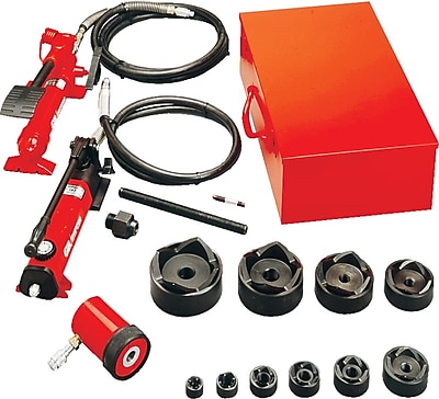 GB® Slug-Out™ KOH540A Hydraulic Knockout Set For Hand or Foot-Powered Hydraulic Pump