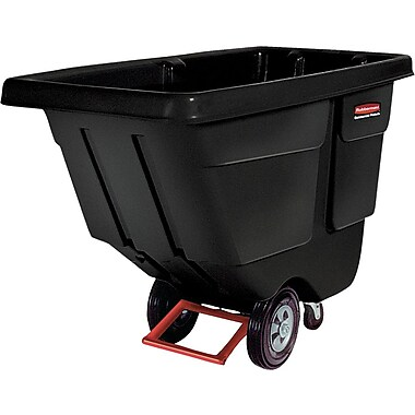 Rubbermaid® Black Plastic Rotational Molded Tilt Truck, 450 lbs.