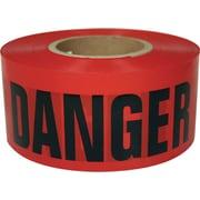 "Intertape Polymer Group® ipg™ 3""(W) x 1000'(L) x 2 mil(T) Barricade Ribbon, Red/Black"
