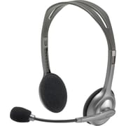 Logitech H110 Wired PC Headset for Internet Calls and Music (981-000214)