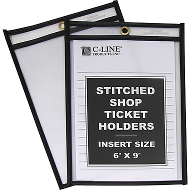 C-Line® Plastic Shop Ticket Holder, 6