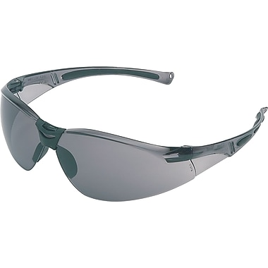 North A800 Series Anti-scratch Safety Glasses, Gray Lens